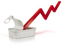 Economic recovery. Illustration of a curve of economic recovery Stock Photography
