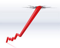 Economic recovery. Illustration of a economic recovery Royalty Free Stock Images