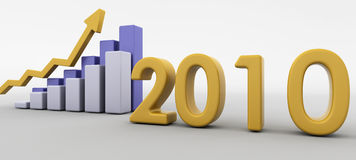 Economic recovery in 2010 Royalty Free Stock Images