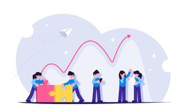 Free Economic Recovery After The End Of The Financial Crisis. Great Teamwork. Modern Flat Vector Illustration. Royalty Free Stock Photography - 182607207