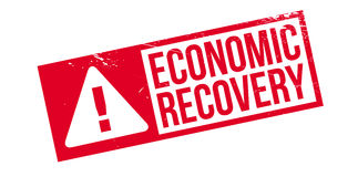 Economic Recovery rubber stamp. Grunge design with dust scratches. Effects can be easily removed for a clean, crisp look. Color is easily changed Stock Photos