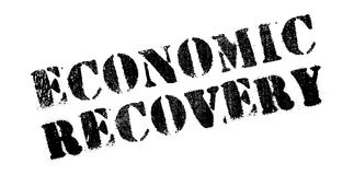 Economic Recovery rubber stamp. Grunge design with dust scratches. Effects can be easily removed for a clean, crisp look. Color is easily changed Royalty Free Stock Image