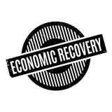 Economic Recovery rubber stamp. Grunge design with dust scratches. Effects can be easily removed for a clean, crisp look. Color is easily changed Stock Image