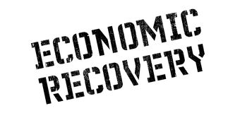 Economic Recovery rubber stamp. Grunge design with dust scratches. Effects can be easily removed for a clean, crisp look. Color is easily changed Royalty Free Stock Photo