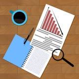 Economic research financial presentation Royalty Free Stock Photos