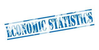 Economic statiatics blue stamp. Isolated on white background Stock Image
