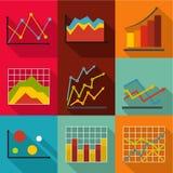 Economic study icons set, flat style. Economic study icons set. flat set of 9 economic study vector icons for web isolated on white background Royalty Free Stock Photos