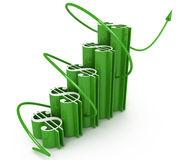 Economic success of the dollar chart Royalty Free Stock Photo