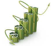 Economic success of the dollar chart Stock Photo