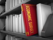 Economic Survey - Title of Book. Internet Concept. Royalty Free Stock Photos