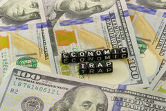 Economic trap words Royalty Free Stock Photos
