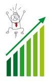 Economic victory with Joe stock image