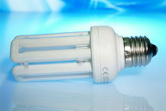 The economic white lamp Royalty Free Stock Photo