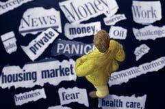 Economic worries Stock Image