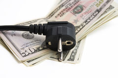 Economical. Expenses of money for an electricity Royalty Free Stock Photos