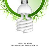 Economical bulb background Stock Images