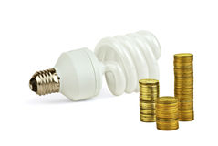 Economical bulb save money Stock Photography