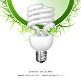 Economical bulb vector illustration Royalty Free Stock Photos