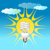 Economical bulb vector illustration Stock Photo
