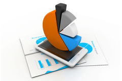 Economical business chart and graph Stock Photography