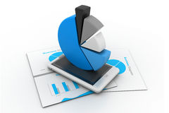 Economical business chart and graph Stock Images
