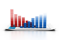 Economical business graph Stock Photo