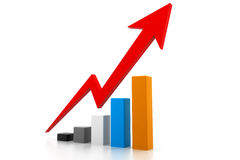 Economical business graph Royalty Free Stock Photos