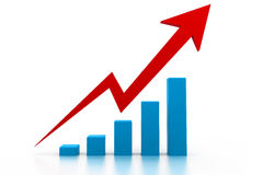 Economical business graph Stock Image