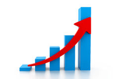 Economical business graph Royalty Free Stock Images