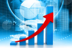 Economical business graph Stock Photography