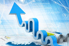 Economical Business graph Stock Images