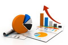 Economical chart and graph Stock Photography