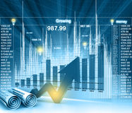 Economical chart and graph Royalty Free Stock Photo