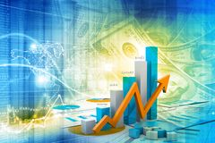 Economical chart and graph Stock Photo