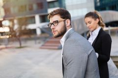 Economical crisia strikes markets. And business people are sad Royalty Free Stock Photography