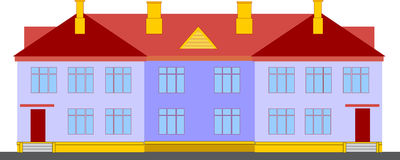 Economical duplex house. Duplex - house on two floors can welcome two families Royalty Free Stock Photo