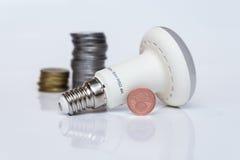 Economical lamp stock photo