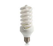Economical lamp on a white background. Economical halogen white lamp on a white background Stock Photo