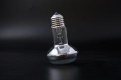Economical light bulb on a black background. Royalty Free Stock Image