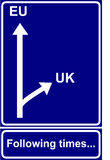 Economical road sign Stock Photo