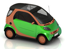 Economical small green car Stock Photography