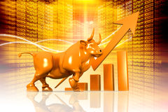 Economical Stock market background Stock Photo