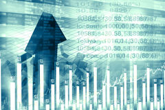 Economical stock market chart. And graph Royalty Free Stock Photography