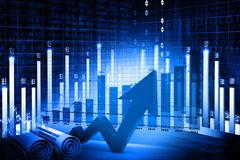 Economical stock market chart Royalty Free Stock Image