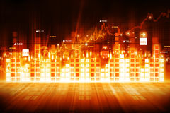 Economical stock market graph. And chart Royalty Free Stock Photography