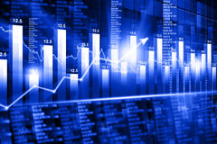 Economical Stock market graph. Stock market graph and chart analysis Royalty Free Stock Images