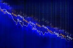 Economical Stock market graph Stock Photos