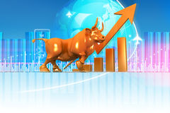 Economical Stock market graph Royalty Free Stock Image