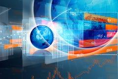 Economical Stock market graph Stock Image