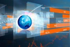 Economical Stock market graph Stock Photo